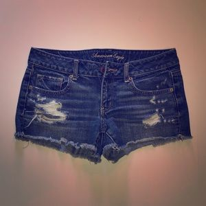 American Eagle Outfitters Cut-Off Denim Short